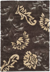 Safavieh Florida Shag Sg463-2879 Dark Brown / Smoke Area Rug