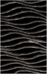 Safavieh 3d Shag Sg551e Black - Grey Area Rug