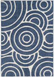 Safavieh Memphis Shag SG830B Blue - Creme Area Rug