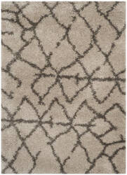 Safavieh Belize Shag Sgb482d Taupe / Grey Area Rug