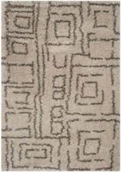 Safavieh Belize Shag Sgb487d Taupe / Grey Area Rug