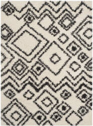 Safavieh Belize Shag Sgb488b Ivory / Charcoal Area Rug