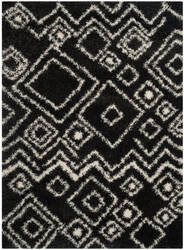 Safavieh Belize Shag Sgb488c Charcoal / Ivory Area Rug
