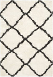Safavieh Belize Shag Sgb489b Ivory - Charcoal Area Rug