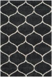 Safavieh Hudson Shag Sgh280g Dark Grey - Ivory Area Rug