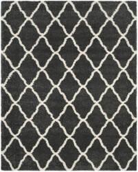 Safavieh Hudson Shag Sgh283g Dark Grey - Ivory Area Rug