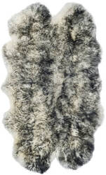 Safavieh Sheepskin Shag Shs121g Ivory - Dark Charcoal Area Rug