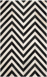 Safavieh Studio Leather Stl122a White - Black Area Rug