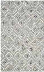 Safavieh Studio Leather Stl220a Ivory - Grey Area Rug