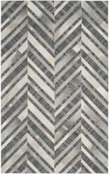 Safavieh Studio Leather Stl223a Ivory - Dark Grey Area Rug