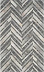 Safavieh Studio Leather Stl223a Ivory - Dark Grey Area Rug