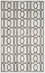 Safavieh Studio Leather Stl662a Ivory - Grey Area Rug