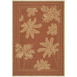 Safavieh Courtyard Cy6683-48 Terracotta - Natural Area Rug