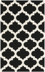 Safavieh Dhurries Dhu623a Black / Ivory Area Rug