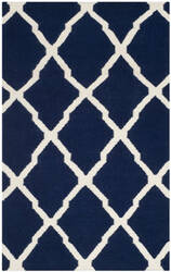 Safavieh Dhurries DHU634D Navy / Ivory Area Rug