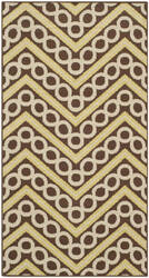 Safavieh Hampton HAM513AB Brown / Ivory Area Rug