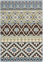 Safavieh Veranda Ver097-624 Chocolate / Blue Area Rug
