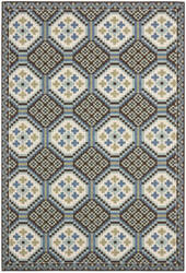 Safavieh Veranda Ver100 Blue - Chocolate Area Rug