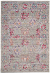 Safavieh Windsor Wds309e Grey - Fuchsia Area Rug