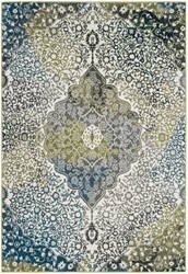 Safavieh Water Color Wtc672b Ivory - Peacock Blue Area Rug