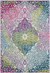 Safavieh Water Color Wtc672f Ivory - Fuchsia Area Rug