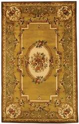Safavieh Classic CL280A Light Gold / Green Area Rug