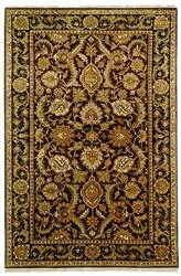 Safavieh Dynasty DY244A Burgundy / Black Area Rug