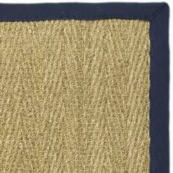 Safavieh Natural Fiber NF115E Natural / Blue Area Rug
