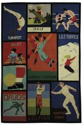 Safavieh Vintage Posters VP254A Assorted Area Rug