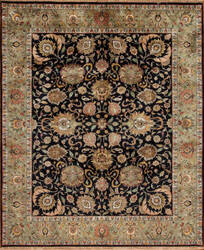 Samad Silver Screen Barrymore Black - Light Green Area Rug