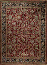 Samad British Raj 2000 Stratford Red - Navy Area Rug