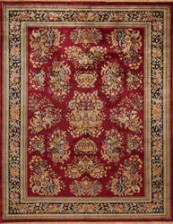 Samad British Raj 2000 York Red - Navy Area Rug