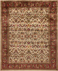 Samad British Raj 2000 Regal Ivory - Red Area Rug