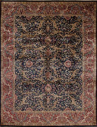 Samad Stately Manor Montague Blue - Red Area Rug