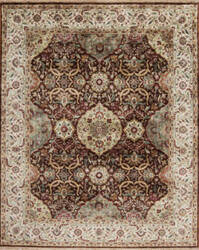Samad Silver Screen Bogart Chocolate - Cream Area Rug