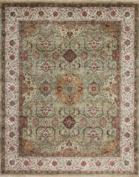 Samad Silver Screen Bogart Light Green - Ivory Area Rug