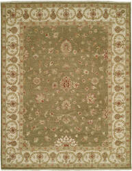 Shalom Brothers Royal Zeigler Rzm-Sl69 Green/Beige Area Rug