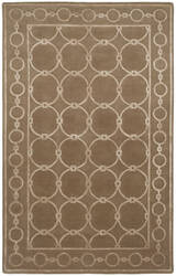 Shalom Brothers Broadway B-4 Taupe - Beige Silk Area Rug
