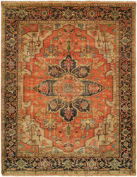 Shalom Brothers Jules Serapi Js-454 Antique Wash Finish Area Rug