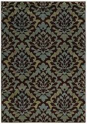 Shaw KI Home Gallery Royal Shimmer Brown 17700 Area Rug