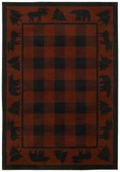 Shaw Phillip Crowe Timber Creek Woodlands Scarlet-15800 Area Rug