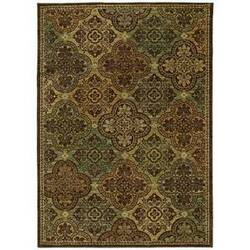 Shaw Tommy Bahama Home-Nylon Moroccan Mosaic Dark Brown 40710 Area Rug