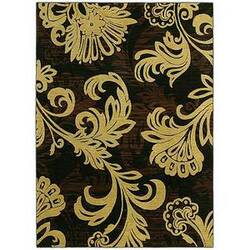 Shaw Tommy Bahama Home-Nylon Bahama Bloom Black 41500 Area Rug
