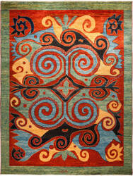 Solo Rugs Kaitag M1891-392  Area Rug
