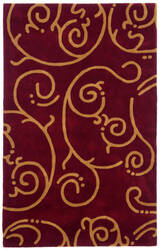 St. Croix Structure Ct55 Burgundy Area Rug