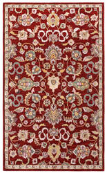 St. Croix Traditions Pt77 Red Area Rug