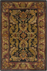 Surya Ancient Treasures A-103 Black Brick Area Rug