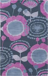 Surya Abigail ABI-9044 Violet (purple) / Gray / Blue Area Rug