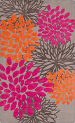 Surya Abigail ABI-9070 Gray / Hot Pink Area Rug