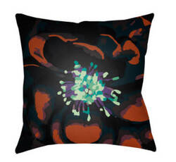 Surya Abstract Floral Pillow Af-006